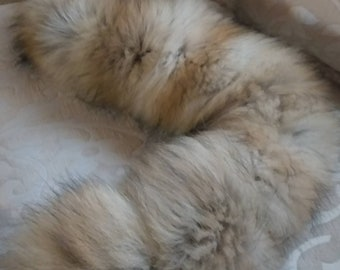 New Natural Real Beautiful FLUFFY super soft Fox Scarf!
