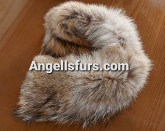 New!Natural Real Coyote fur  Headband!UNISEX!