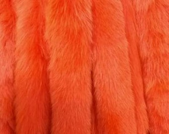 New!Natural Real AMAZING COLOR Fox  scarf!