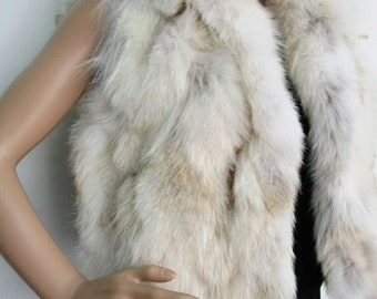 New!Natural Real Fox Fur Vest Bolero-short vest!!!
