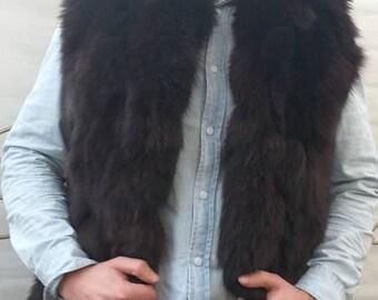 MEN'S New!Real,Natural BROWN FOX Vest!