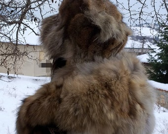 New!Natural,Real coyote fur HAT!