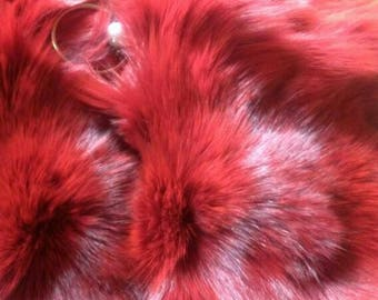 New!Natural,Real colored RED FOX Envelope style Fur  Bag!