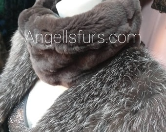 New!Natural Real Rex fur  Headbands- Collars!