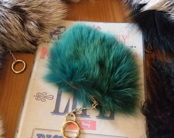New!Natural,Real Small FOX Fur Wallet Keychain in many colors!
