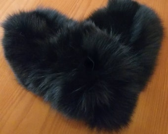 New!Natural,Real Black Fox UNISEX FUR GLOVES!!!