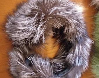 New!Natural Real Silver fur  Headband!