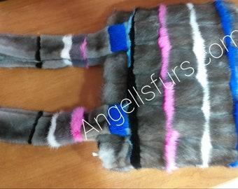 New Natural Real Beautiful model MINK Fur Bag!