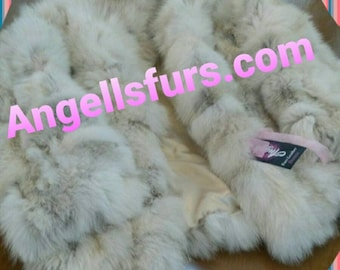 New!KID'S Natural Real Fox Fur coat! Unisex!