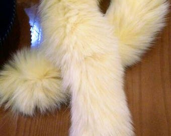 New!!!Natural Real Light Yellow Fox Fur scarve!