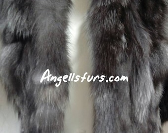 MEN'S New Real Natural SHORT STYLE Silver Fox Vest!
