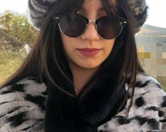 New!Natural,Real  REX Fur HAT!
