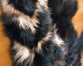 New!!!Beautiful Natural Real LONG FOX scarf!