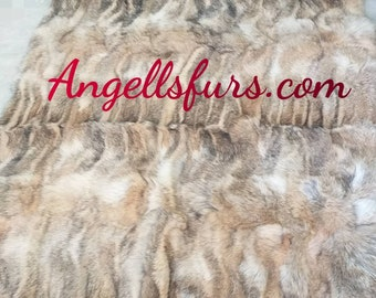 FUR For HOME!Brand New, Real,Natural Coyote Fur Throw Blanket!