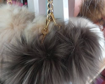 New! FOX Pompom-keychains in Beautiful OLIVE COLOR !
