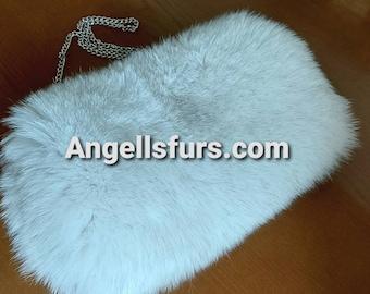 New Natural Real FOX Hand MUFF-BAG!