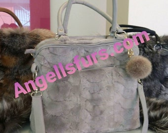 New Natural Real Beautiful model MINK Fur Bag!