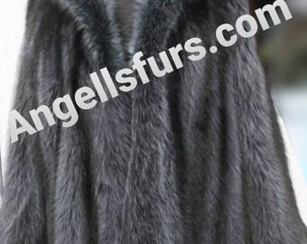 MEN'S New HOODED RACCOON Fur Coat!
