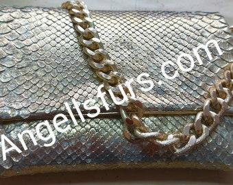 New Natural Real GOLD color leather BAG!
