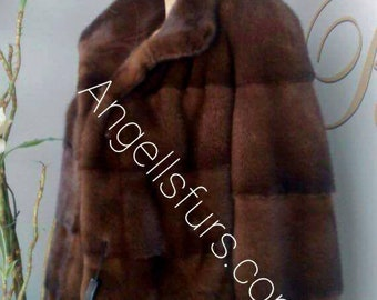 New!Natural Real Modern Superior Quality FULLSKINS  MINK Fur!