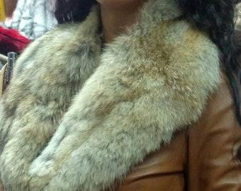 New!!!Natural Real Fox collar!