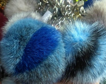New Excellent Quality MINK Pompom keyrings in many colors!