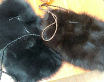 New!Natural,Real FOX Hand MUFFS-Bags!
