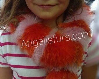 New Natural Real Fox Fur HATS for KIDS! Unisex