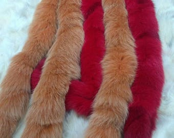 New!!!Natural Real MULTICOLOR Fox TRIMS!