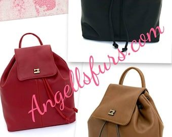 New Natural Real LEATHER backpack Bags!