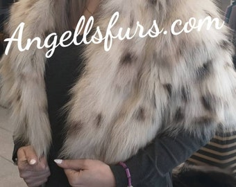 New!Natural Real ONE size FOX Fur Bolero!Order ANY Color!