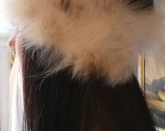 New!Natural Real Raccoon fur  Headband!