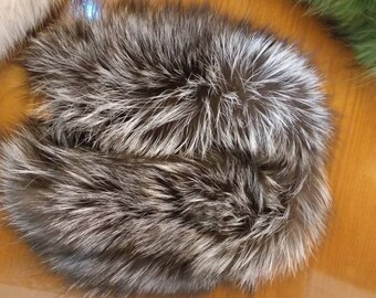 New!Natural Real WIDER Silver fur  Headband!