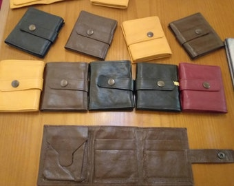 New!Natural, Handmade Real Leather Wallets! Unisex