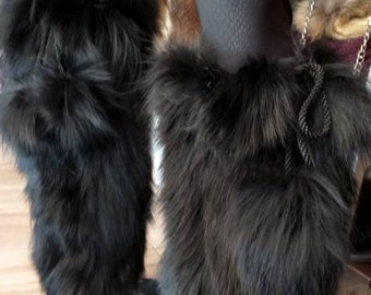 Just in! New Real BLACK FOX for wrapping your LegS or your BOOTS! Order Any color!