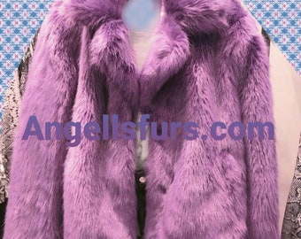NEW!Natural Real Fullpelts Rabbit jacket in MANY COLORS!