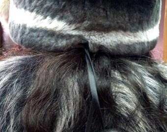 New!Natural,Real fullskin REX Fur HAT! One Size