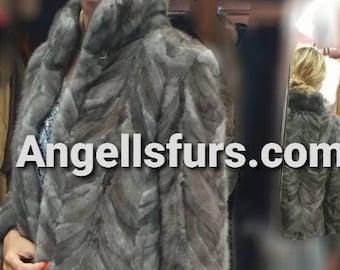 NEW  Natural Real Beautiful color MINK Fur jacket!