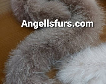FOX SCARF NUDE Color!Brand New Real Natural Genuine Fur!Unisex!