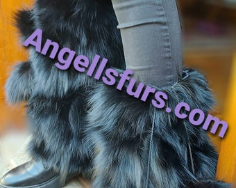 Just in! New Real BLACK FOX SOCKS for your Legs or your Shoes! Order Any color!