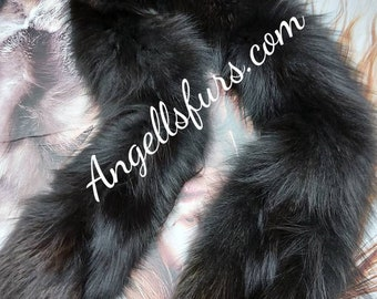 LONG FOX Scarf!Double side Fox! Brand New Natural Real Genuine Fur! Unisex