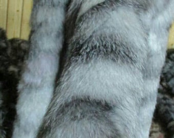 New!!!Natural Real Silver White FOX TRIMS!
