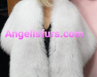 New!Natural,Real Shawl-Etol in Amazing fullskin WHITE FOX!