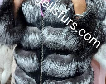 SILVER FOX Fur!Fullpelts Brand New Real Natural Genuine Fur!