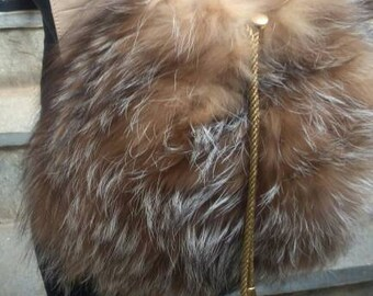 Backpack Raccoon Bag!New and Natural,Real Fur Bag!