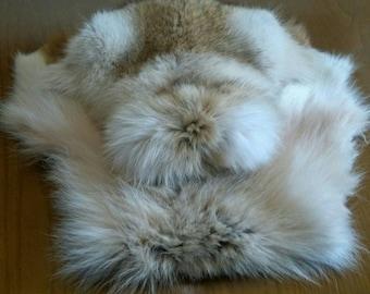 New!Natural,Real Full skin RACCOON Envelope style Fur Bag!