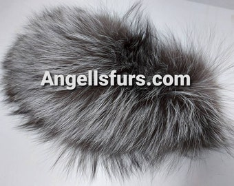 New!Natural Real WIDER Silver fur  Headband! Unisex!
