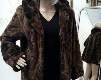 MINK HOODED FURCOAT!Brand New Real Natural Genuine Fur!