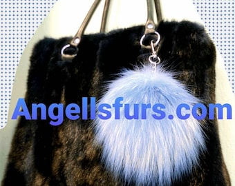 New Natural Real BLACK full pelts MINK Fur Handbag!
