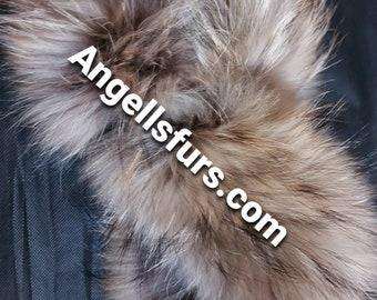 New!Natural Real Raccoon fur  Headband!